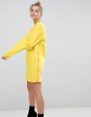 Asos Oversized Sweat Dress with Zip Detail
