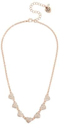Betsey Johnson Crystal Pave Heart Necklace