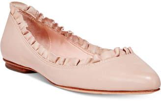 Kate Spade Nicole Ruffle Pointed Toe Flats