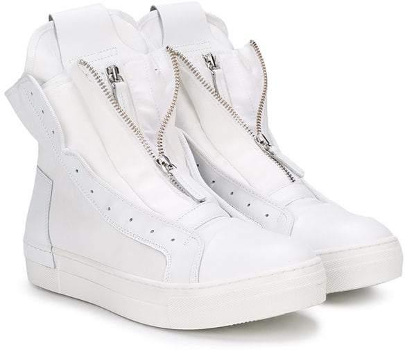 Cinzia Araia Kids hi-top zip front sneakers