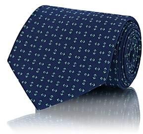 Ralph Lauren Purple Label Men's Geometric-Print Silk Necktie - Navy