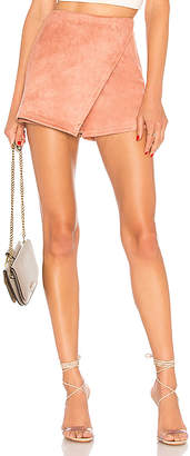 00df076e9cb at REVOLVE · About Us Addy Faux Suede Skort