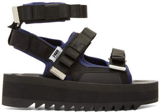 Perks And Mini Black Suicoke Edition Bow Platform Sandals