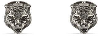 Gucci Sterling Silver Feline Head Cuff Links