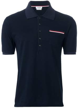 Thom Browne patch pocket polo shirt