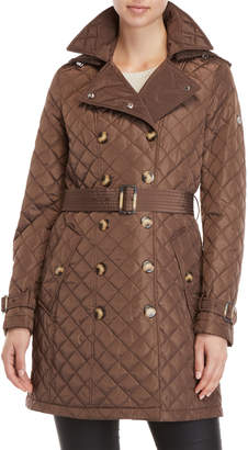 Calvin Klein Diamond Quilted Trench Coat