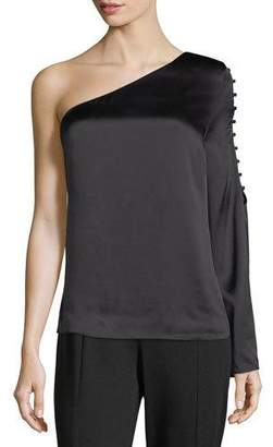 Parker Ripley One-Shoulder Silk Blouse