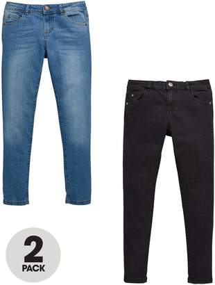 Very 2 Pack Skinny Jeans With Stretch