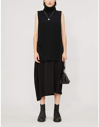 Y's Ys Turtleneck knitted and woven dress
