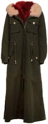 Project Foce Project [Foce] Furred Hood Long Jacket