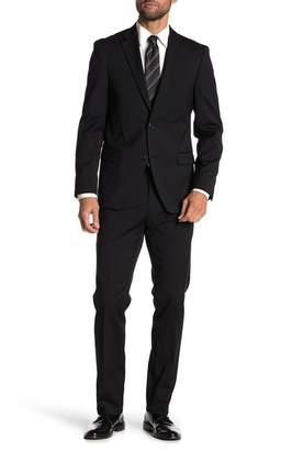 Tommy Hilfiger Lowen Black Solid Two Button Notch Lapel Slim Fit Suit
