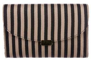 Mansur Gavriel Striped Flat Clutch