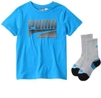 Puma 2Pc T-Shirt & Crew Sock Set
