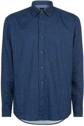 BOSS ORANGE Flannel Spot Shirt