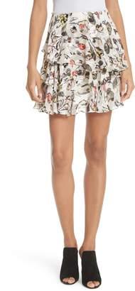 Jason Wu GREY Painterly Floral Print Skirt