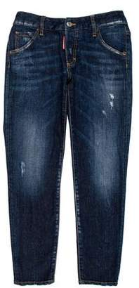 DSQUARED2 Cropped Mid-Rise Jeans