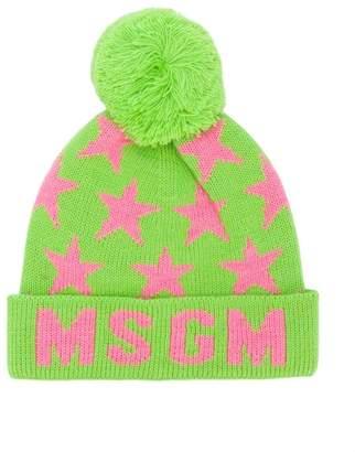 MSGM jacquard knitted beanie