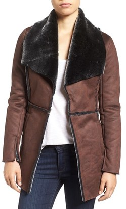 Women's Kut From The Kloth 'Abigail' Faux Shearling Coat $89 thestylecure.com
