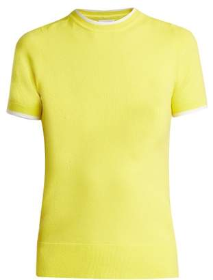 Joostricot - Slim Fit Cotton Blend Sweater - Womens - Yellow