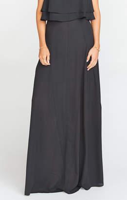 Show Me Your Mumu Princess Di Maxi Skirt ~ Black Crisp