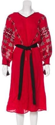 Nili Lotan Linen Midi Dress w/ Tags