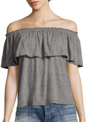Joie Ruffled Off-The-Shoulder Top