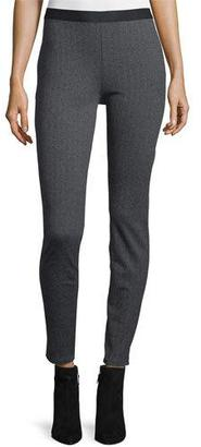 Eileen Fisher Herringbone Jeggings, Charcoal $198 thestylecure.com