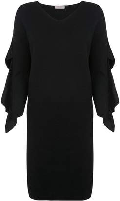 D-Exterior D.Exterior ruffled sleeve dress