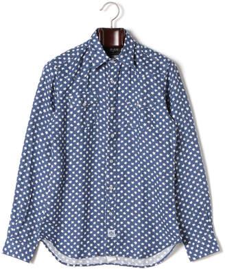 Hydrogen スター柄 レギュラーカラー 長袖シャツ ブルー s