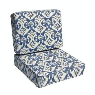 Winston Porter 2 Piece Ikat Indoor/Outdoor Lounge Chair Cushion Winston Porter