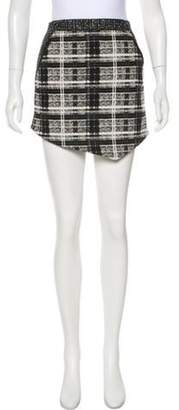 Marissa Webb Plaid Mini Skirt Black Plaid Mini Skirt