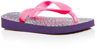 Havaianas Girls' Flores Flip-Flops - Walker, Toddler, Little Kid