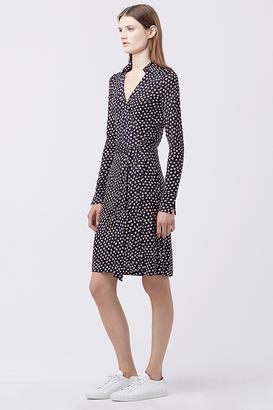 New Jeanne Two Silk Jersey Wrap Dress $398 thestylecure.com