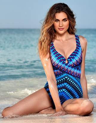 601ee778099 Miraclesuit Marrakech Escape Criss Cross Firm Control Swimsuit
