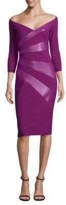 Chiara Boni Off-the-Shoulder Sheath Dress