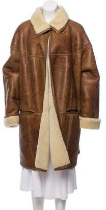 Gucci Long Shearling Coat