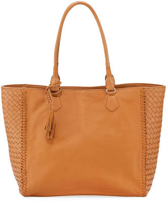 Cole Haan Dillan Woven-Trim Hobo Shoulder Bag