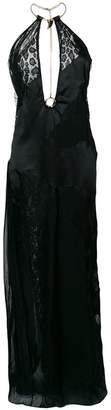 Roberto Cavalli lace insert gown
