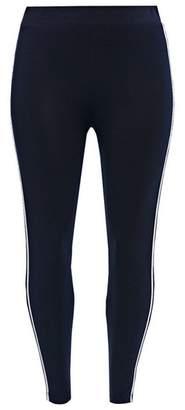 Evans Navy Blue Side Striped Leggings