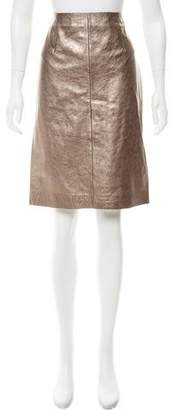 Gerard Darel Metallic Leather Skirt w/ Tags