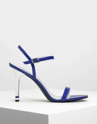 Charles & Keith Ankle Strap Blade Heel Sandals