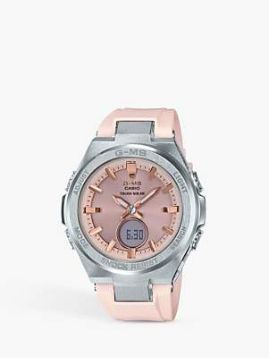 Casio MSG-S200G-4ER Women's Baby G Resin Strap Watch, Rose Gold