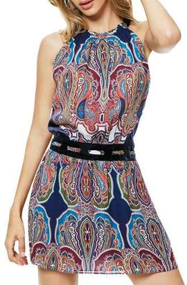 Ramy Brook Ivie Printed High-Neck Mini Dress