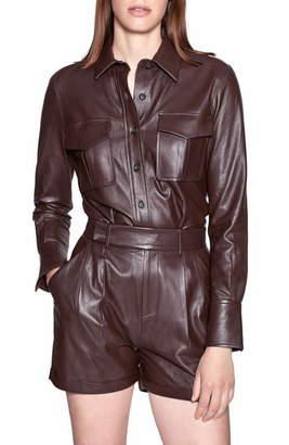 Equipment Garcella Lambskin Leather Shirt