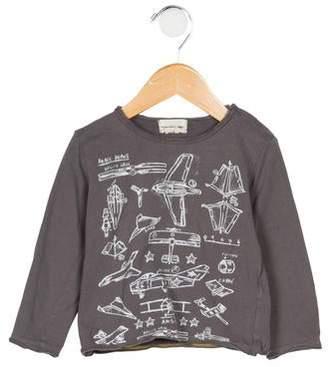 Arsène et les Pipelettes Boys' Printed Long Sleeve Shirt