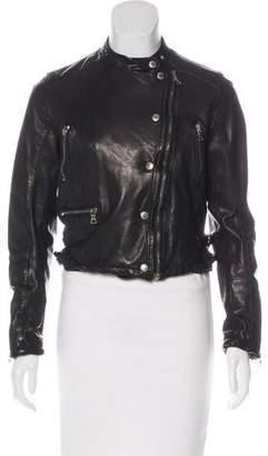 Prada Sport Leather Biker Jacket