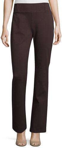 Eileen Fisher Heavyweight Slim Boot-Cut Pants