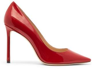 Jimmy Choo Romy 100 Patent Leather Pumps - Womens - Red