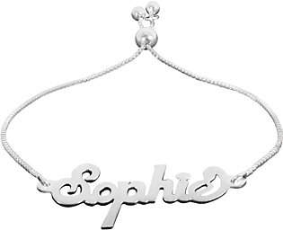 QVC Personalized Sterling Adjustable Name Plate Bra