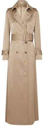 Ralph & Russo - Double-breasted Silk-satin Trench Coat - Sand